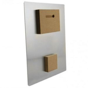Two-Piece Hardboard Shadow Mount Display Set for Metal Photo Prints