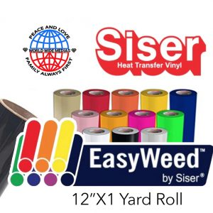 Siser EasyWeed® Heat Transfer Vinyl 1yd Roll 26 Different Colors