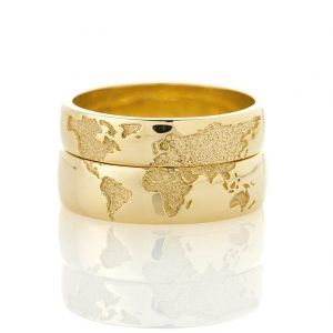 World Wedding Band 14K Gold WorldWideMedias