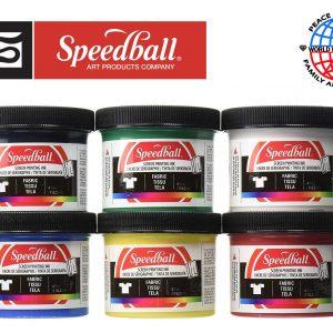 6 Pack Speedball Fabric Screen Printing Starter Set