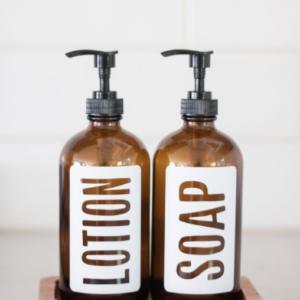 Glass Hand & Dish Soap Dispensers