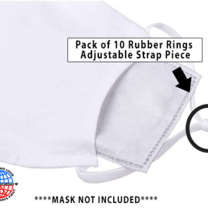 10 pack 1 Size Fits all Rubber Rings (20 Total)