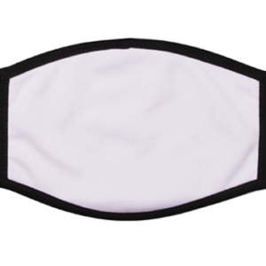 10 Pack Sublimation Face Mask Cotton Mouth/100% Polyester Front
