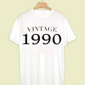 NEW Vintage Birthday Year T-Shirt Crew neck Unisex