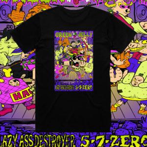 NEW Green Jello Lazy Ass Destroyer Jester Shirt Unisex LE 33 Black
